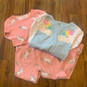 Three piece Unicorn pajama set
